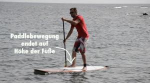 Grundschlag Stand Up Paddle Bewegungsende