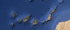 Karte der 7 Kanaren Inseln