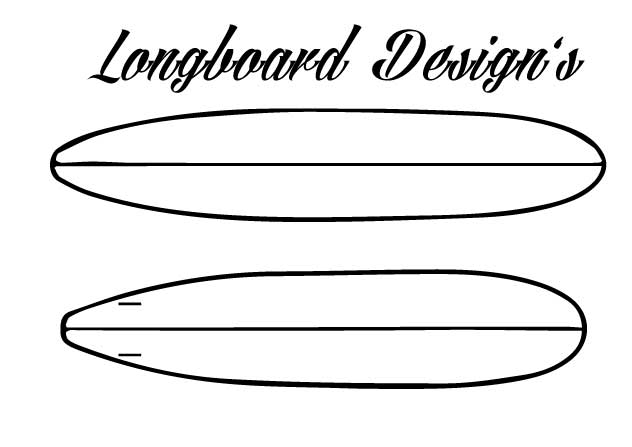classic longboard surfboard design