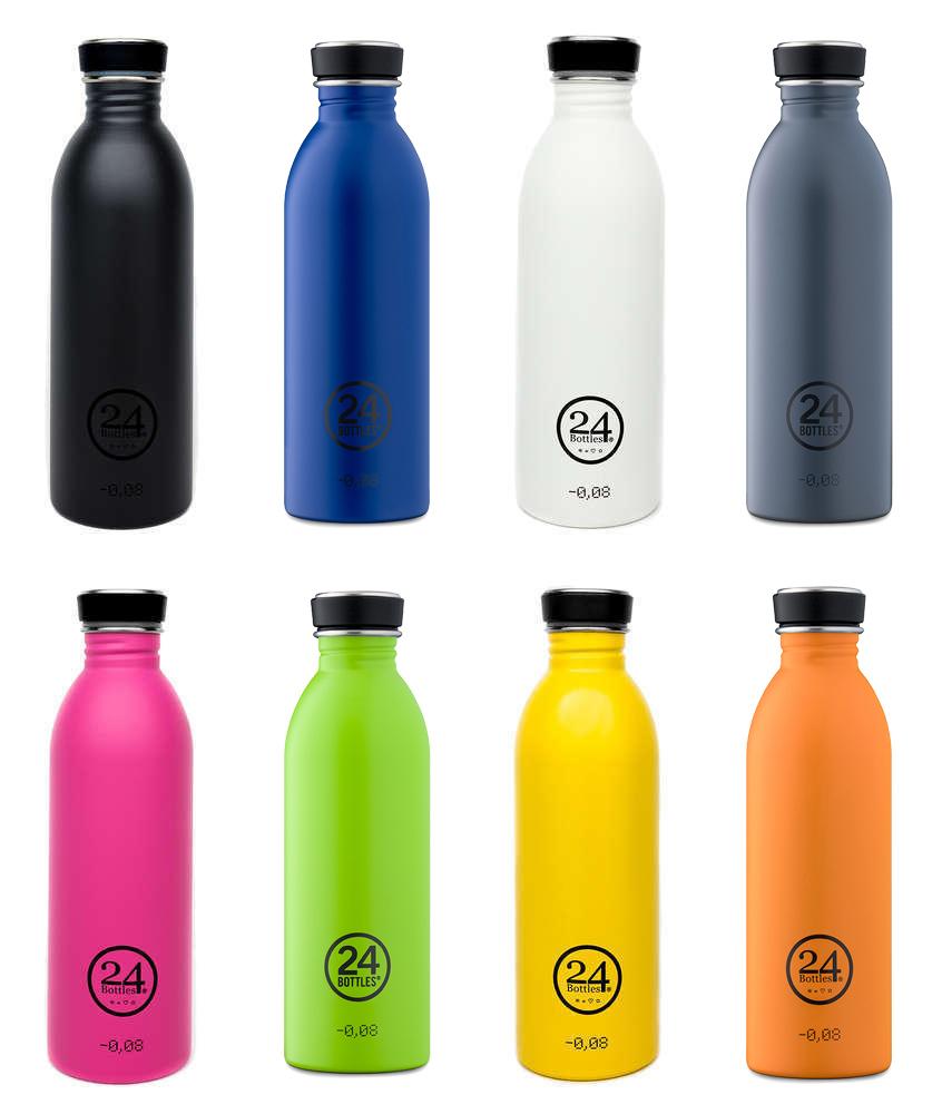 24 bottles Die 5 besten Edelstahl Trinkflaschen